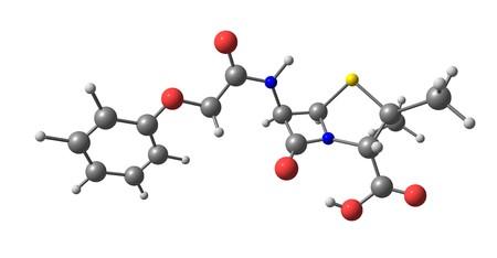 Penicillin or PCN or pen is a group of antibiotics which include penicillin G, penicillin V, procaine penicillin, and benzathine penicillin for intramuscular use. 3d illustration Stock Photo