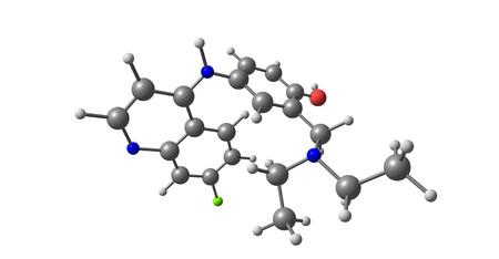 Amodiaquine or ADQ is a medication used to treat malaria, including Plasmodium falciparum malaria when uncomplicated. 3d illustration Stock Photo