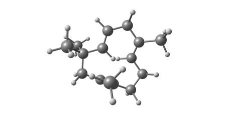 Humulene molecular structure isolated on white Imagens - 106515177