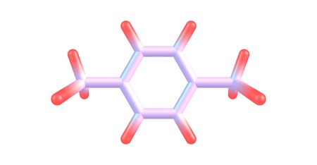 p-Xylene or para-xylene is an aromatic hydrocarbon. It is one of the three isomers of dimethylbenzene known collectively as xylenes. 3d illustration 写真素材 - 106375715