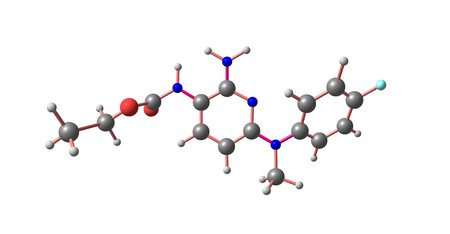 Flupirtine is an aminopyridine that functions as a centrally acting non-opioid analgesic that was originally used as an analgesic for acute and chronic pain. 3d illustration 写真素材