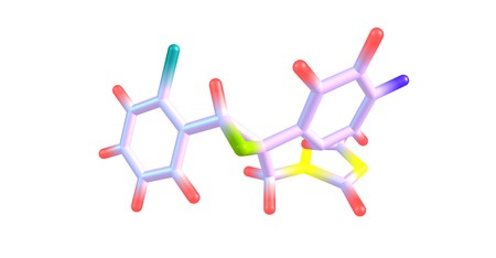 Epoxiconazole is a fungicide active ingredient from the class of azoles developed to protect crops. 3d illustration Stock Photo