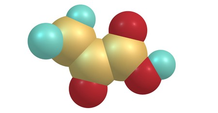 Pyruvic acid is the simplest of the alpha-keto acids, with a carboxylic acid and a ketone functional group. 3d illustration Stock Illustration - 110602231