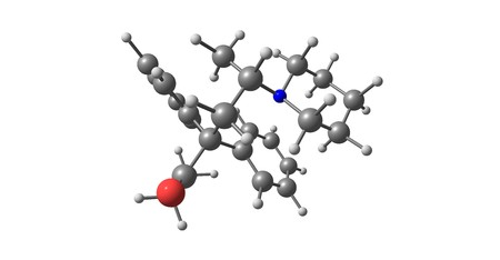 Dipipanone is a strong opioid analgesic drug, used for very severe pain in cases where other analgesics are unsuitable. 3d illustration