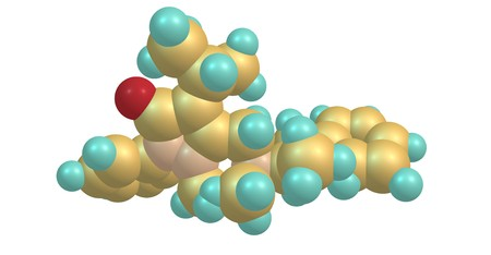 Famprofazone is a nonsteroidal anti-inflammatory agent of the pyrazolone series which is available over-the-counter in some countries. 3d illustration Standard-Bild - 115733724