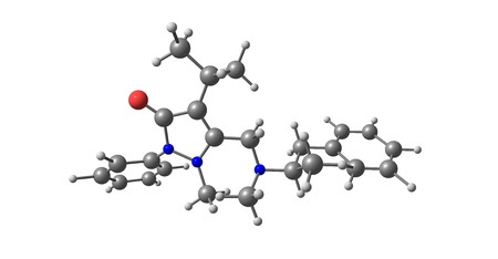 Famprofazone is a nonsteroidal anti-inflammatory agent of the pyrazolone series which is available over-the-counter in some countries. 3d illustration Standard-Bild - 115733731