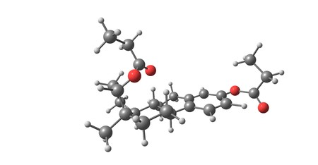 Estradiol dipropionate molecular structure isolated on white 版權商用圖片 - 118553475
