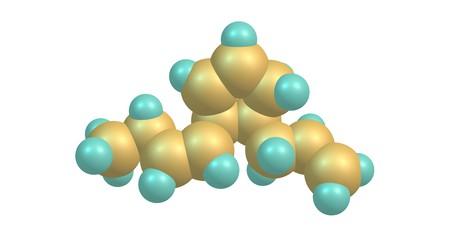 Multifidene molecular structure isolated on white Stock Photo