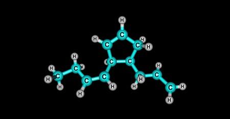 Multifidene molecular structure isolated on black