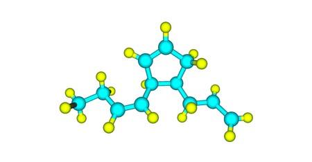Multifidene molecular structure isolated on white Stok Fotoğraf