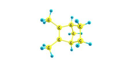 Santene molecular structure isolated on white Фото со стока - 118553564