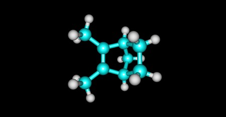 Santene molecular structure isolated on black Фото со стока