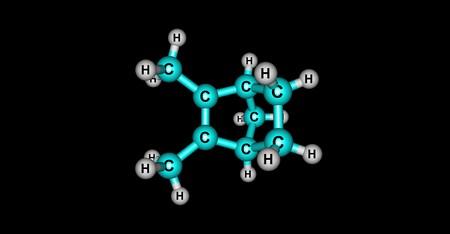 Santene molecular structure isolated on black Stock Photo