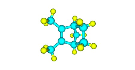 Santene molecular structure isolated on white Stock Photo