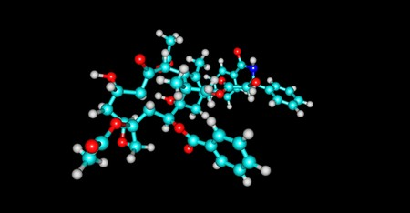 Paclitaxel molecular structure isolated on black Stock Photo
