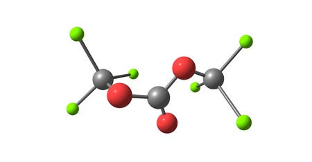 Triphosgene is a chemical compound that is used as a safer substitute for phosgene. 3d illustration Standard-Bild - 118977093