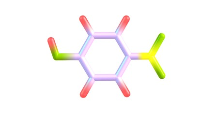 4-Nitrophenol is a phenolic compound that has a nitro group at the opposite position of the hydroxyl group. 3d illustration