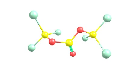 Triphosgene is a chemical compound that is used as a safer substitute for phosgene. 3d illustration