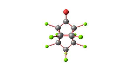Kepone or chlordecone, is an organochlorine compound and a colourless solid. 3d illustration Banco de Imagens