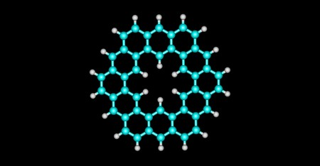 Kekulene is a polycyclic aromatic hydrocarbon and a circulene with the chemical formula C48H24. 3d illustration Banco de Imagens - 125014057