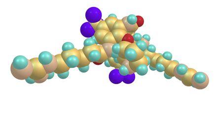 Brilacidin antibiotic molecular structure isolated on white
