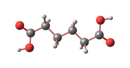 Adipic acid molecular structure isolated on white 写真素材