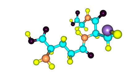 Glutathione or GSH is an antioxidant in plants, animals, fungi, and some bacteria and archaea. 3d illustration