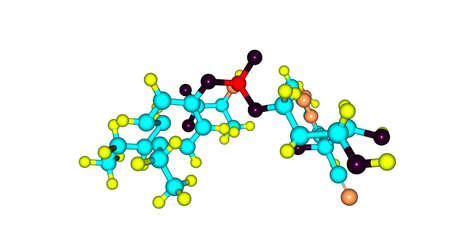 Remdesivir molecular structure isolated on white