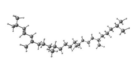 Squalane molecular structure isolated on white