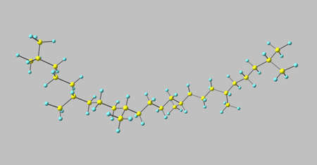 Squalane molecular structure isolated on grey