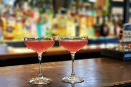 Two Cosmopolitan Cocktails in a bar Reklamní fotografie