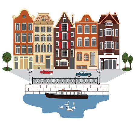 アムステルダムの通りの図
