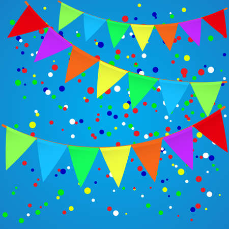 flags vector: Colorful confetti background with flags. Vector illustration Illustration