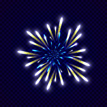 colorfu: Festive colorfu firework design. Holiday background. Vector illustration Illustration