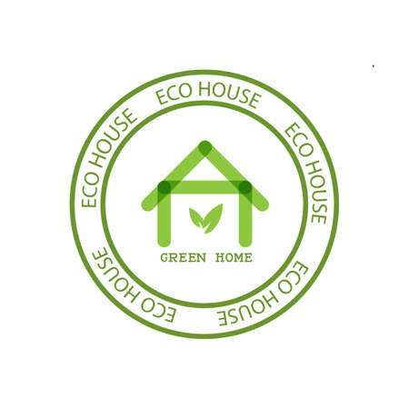 Eco House Real Estate icon. Green home. Vector design