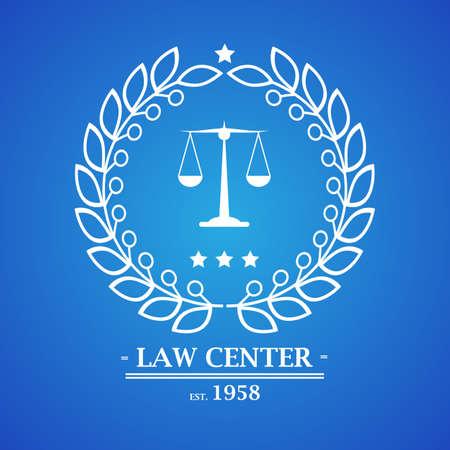 notary: Law firm, office, center  logo design. Vector illustration Illustration