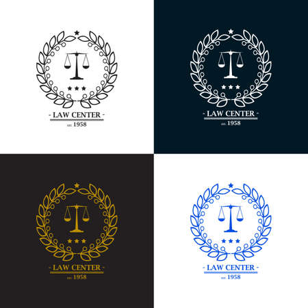 Law firm, office, center  logo design. Vector illustration Illustration