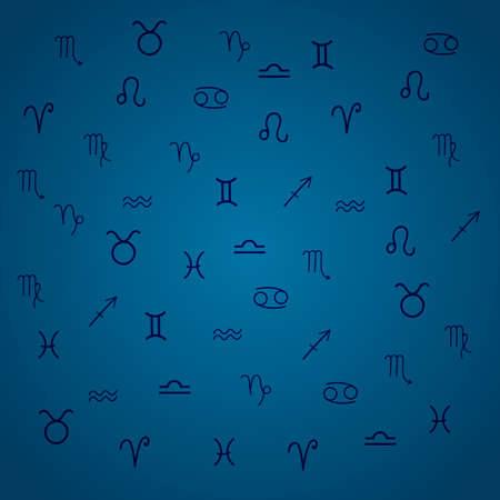 astrologer: Zodiac signs. Set of zodiac icons.  illustration