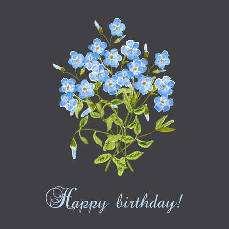 greating card: Watercolor Happy Birthday greating card. Vector illustration. Illustration
