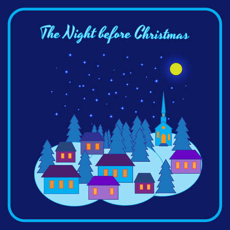 night before christmas: The night before Christmas. Vector illustration