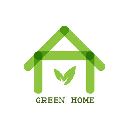 building lot: Green Home Eco concept icon. Vector Illustration Illustration