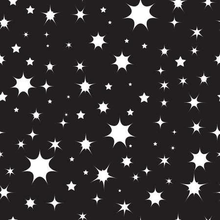 Sterne im Weltraum, nahtlose Muster. Vektor-Illustration