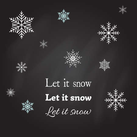 let it snow: Vector Christmas card Let it snow Illustration