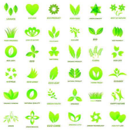 Ecology icon set  on white background. Vector illustration