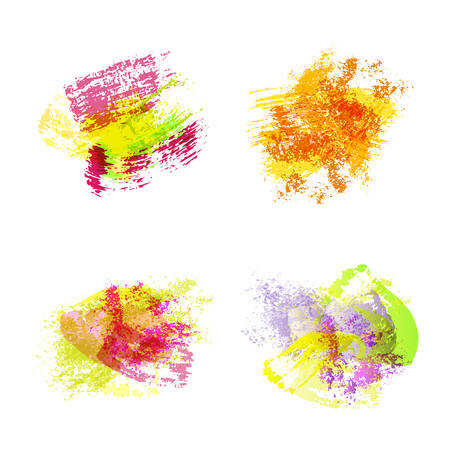 Abstract vector watercolor spots