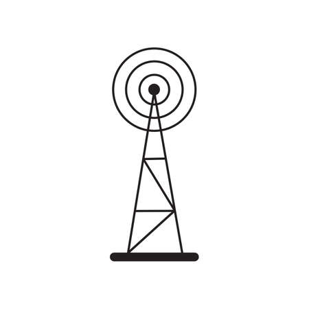 cell phone transmitter tower: Cell Phone Tower icon isolated on white background
