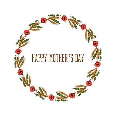 greeting card background: Greeting card for Mothers Day on a white background. Illustration
