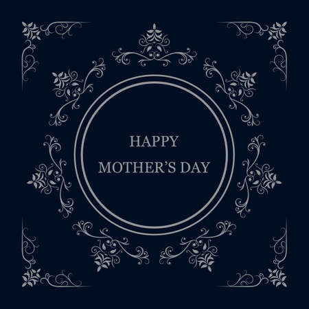 greeting card background: Greeting card for Mothers Day on blue background. Illustration