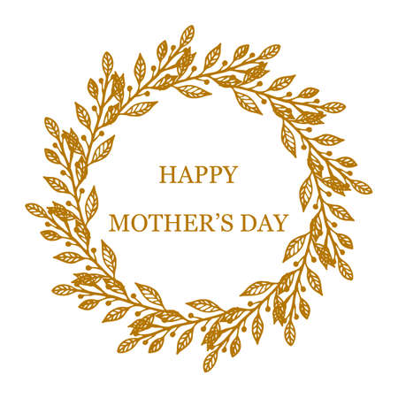 greeting card background: Greeting card for Mothers Day in white background.