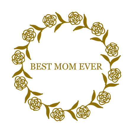 greeting card background: Greeting card for Mothers Day on white background